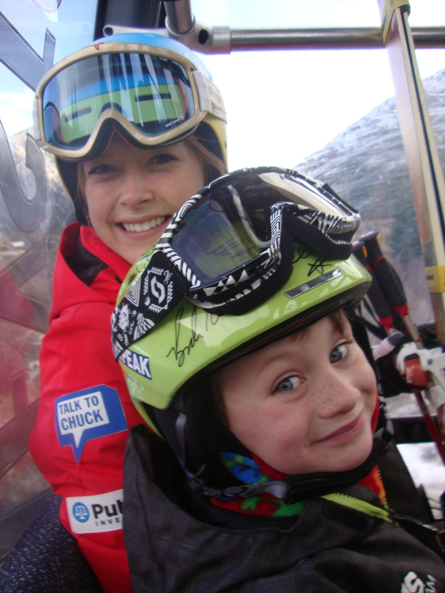 First Tracks Sweepstakes winner Max hanging out with Kaylin - Blog