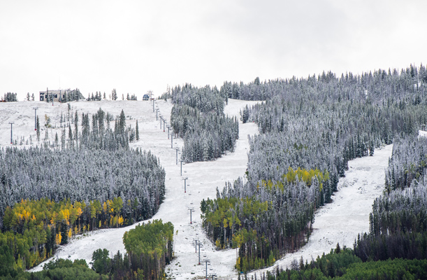 First snow of the season in Vail