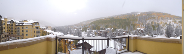 October snow in Vail