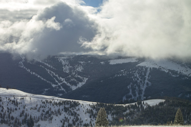 October snow on Vail Mountain Blue Sky Basin