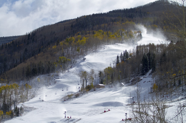 Vail snowmaking on Golden Peak