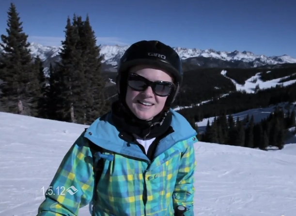January skiing conditions in Vail