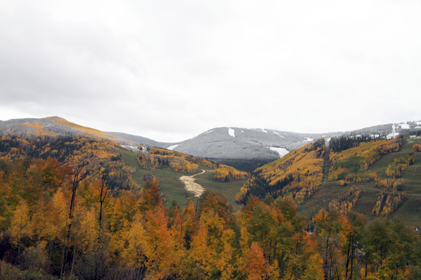 Vail mix of fall and winter