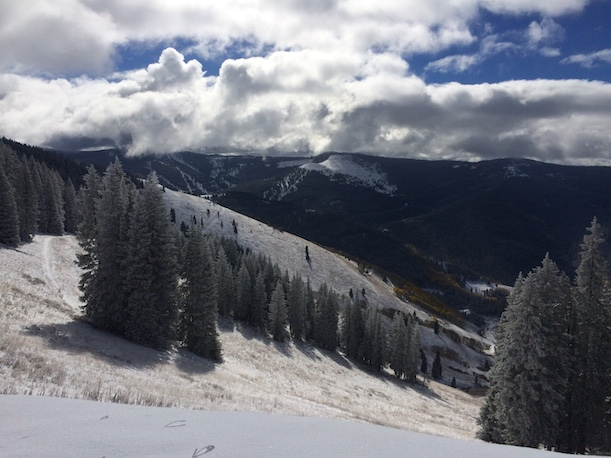 Vail's Back Bowls after early-October snow