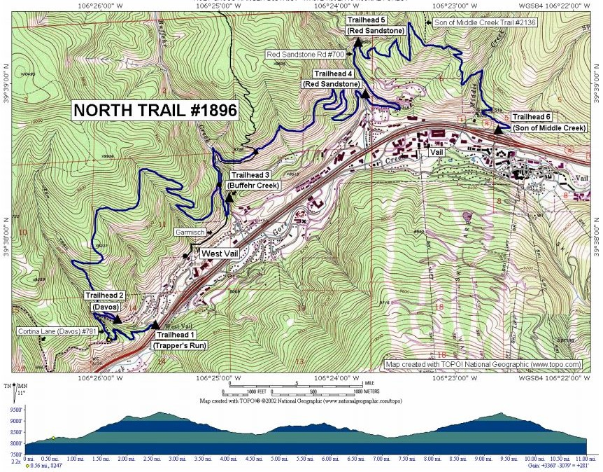 West Vail's North Trail