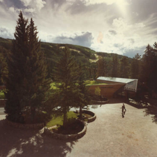 The beautiful library in Vail